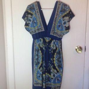 Fun patterned dress.