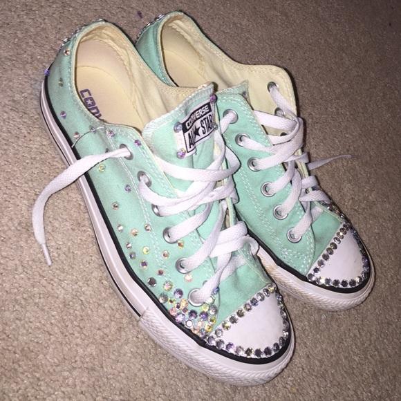 Converse Shoes Diy Bling Poshmark