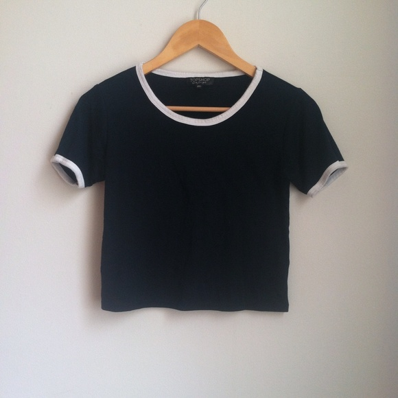 faffa36b6f3 Topshop Tops | Sold On Depop Avy Blue White Colorblock Tshirt | Poshmark