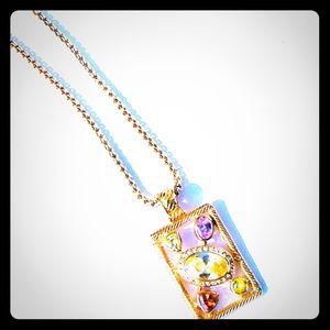 Jewelry - Diamond Citrine Tourmaline Green Garnet Necklace