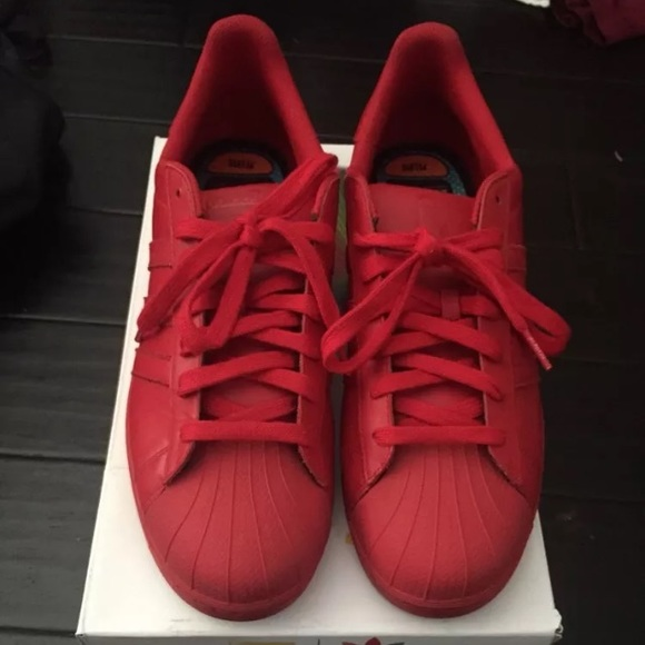 on sale 3d0fb ce058 Adidas- Pharrell Superstar Supercolor Pack (Red)
