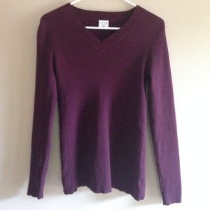 Soft wine colored maternity sweater
