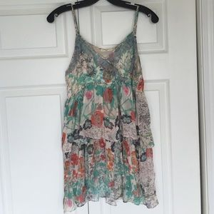 Hazel Tops - Frilly Multi colored tank