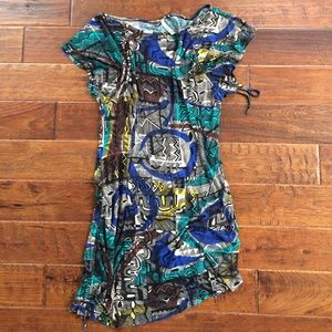 Jungle Print Asymmetrical Dress