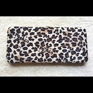 New Leopard Print Wallet Clutch