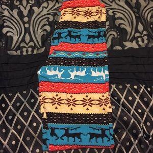 Reindeer Aztec Leggings