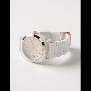 Anthropologie Viscid Watch white with Rosegold