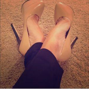 L.A.M.B. Nude Dolores Heels