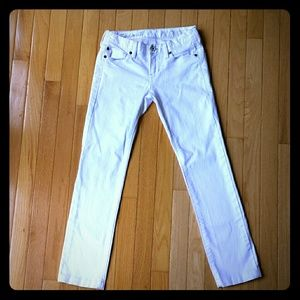 Madewell  white rail straight jeans 24