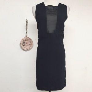 Rue Du Mail Dresses & Skirts - RDM RUE DU MAIL BLACK SHIFT DRESS 34 US SMALL