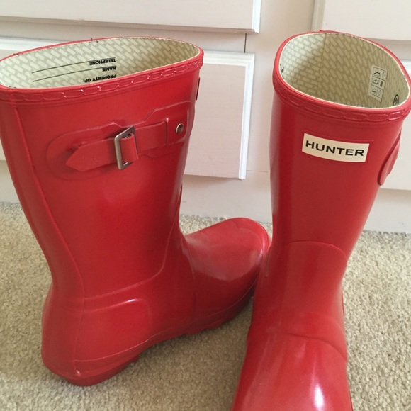 29% off Hunter Boots Shoes - Short red hunter rain boots from ...