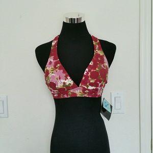 Newport News Other - NWT red floral print bikini swim top