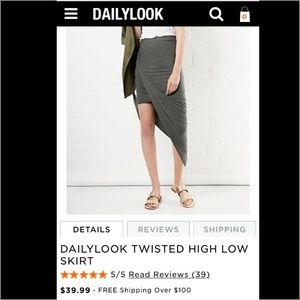 38 dailylook dresses skirts dailylook twisted