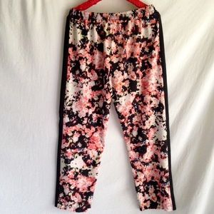 Xhilaration Pants - Floral Silky Jogging Style Pants Size Large