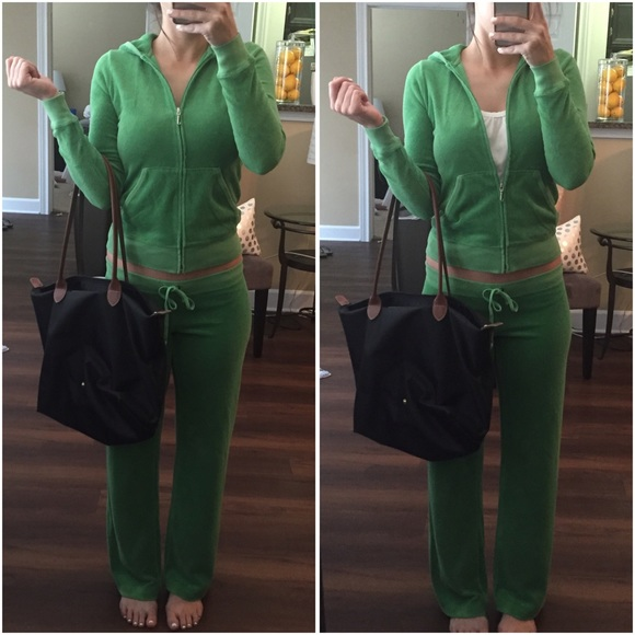 Juicy Couture Jackets   Blazers - Juicy Couture Green Terry Cloth Tracksuit a65e55cff