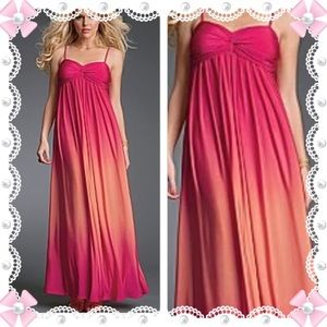 Ombre long maxi dress 70s hippie gypsy pastel goth