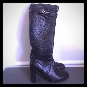 Fendi tall leather boots