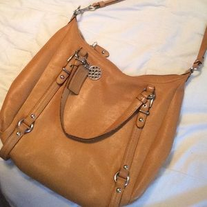 LIMITED EDITION LEATHER ALEXANDRA COACH BAG *AUTH*