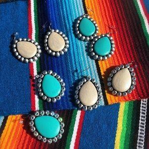 Jewelry - Handmade clay maverick rose earrings
