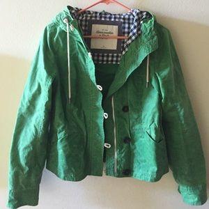 Abercrombie & Fitch Jackets & Blazers - ABERCROMBIE green rain jacket