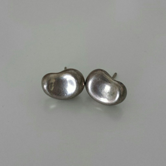 38eff5964 Tiffany & Co. Jewelry | Elsa Peretti Tiffany Silver Bean Earrings ...
