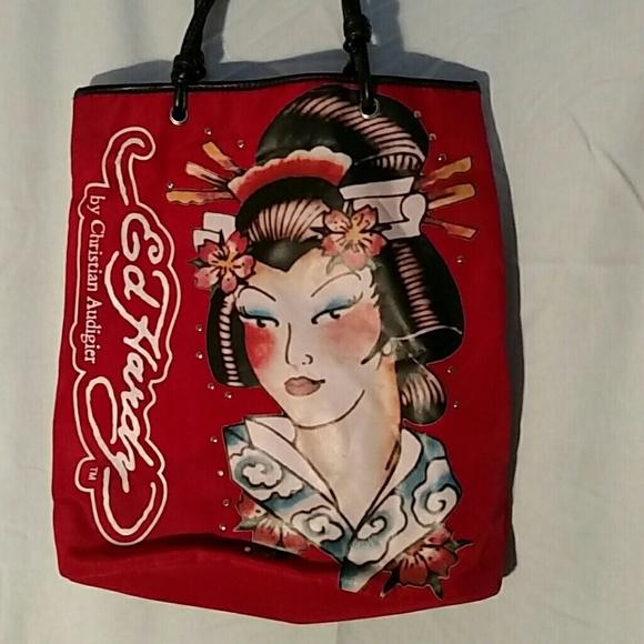 76eec4c4c22 Ed Hardy Handbags -  FINAL PRICE   Large Red Ed Hardy Geisha Tote