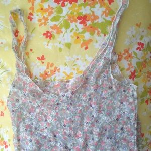 Floral lace Free People cami