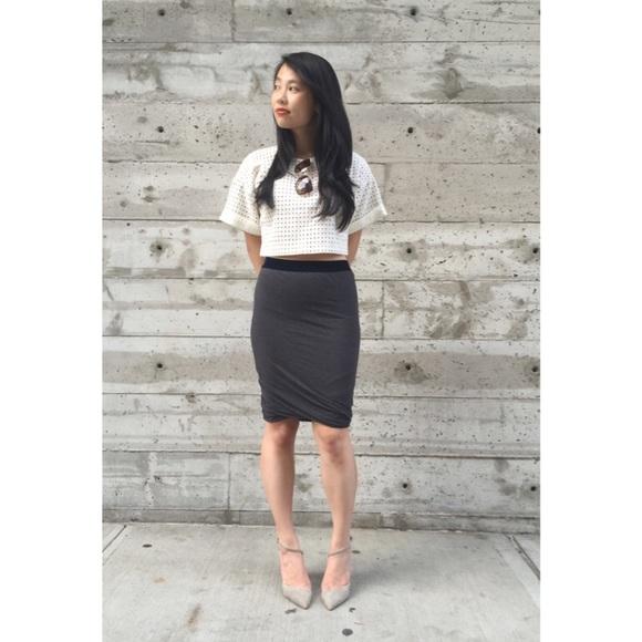 T by Alexander Wang Dresses & Skirts - {t by alexander wang} velvet drape skirt