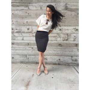 T by Alexander Wang Skirts - {t by alexander wang} velvet drape skirt