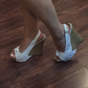 Shoes - White Wedge Heels