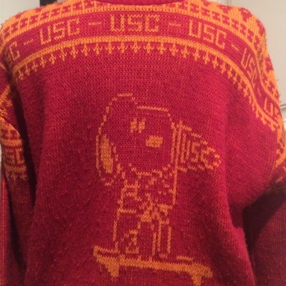 67% off Sweaters - VINTAGE USC snoopy Sweater from Brock's closet ...