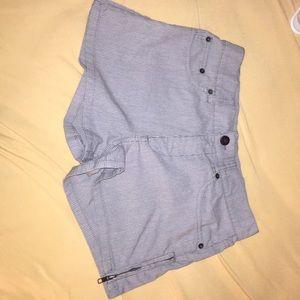 RVCA gray pinstripe shorts