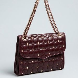 Rebecca Minkoff Affair plum quilted leather bag