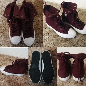 Felt All Star Converse (Burgundy/Maroon)