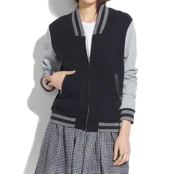 Madewell Letterman Sweater Jacket 19
