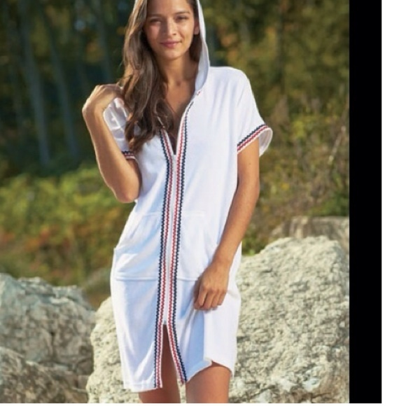 d164d6e1d6a9c The Antigua Swim | Zip Front Hooded Terry Beach Cover Up | Poshmark