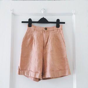 American Apparel Pants - Salmon High-waisted Shorts