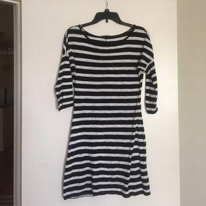Black and white stripe Express dress
