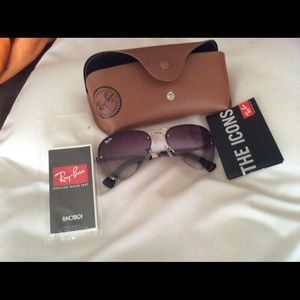 Authentic ray ban sunglasses.