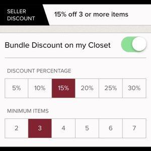 BUNDLE DISCOUNT 15% OFF