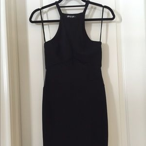 Nasty Gal Black Mesh Dress