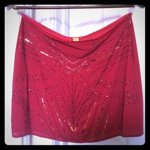 Dresses & Skirts - Short red sequined skirt