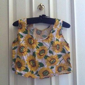 american apparel sunflower rayon loose crop top
