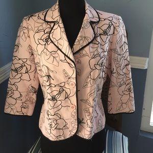 Pink & black blazer