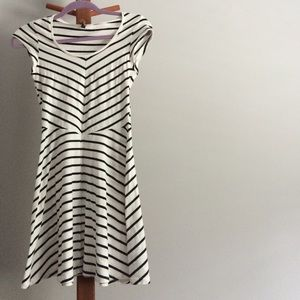 Striped fit and flare H&M dress