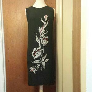 Dresses & Skirts - Vintage 1960s Black Sheath w/Hand Embroidery