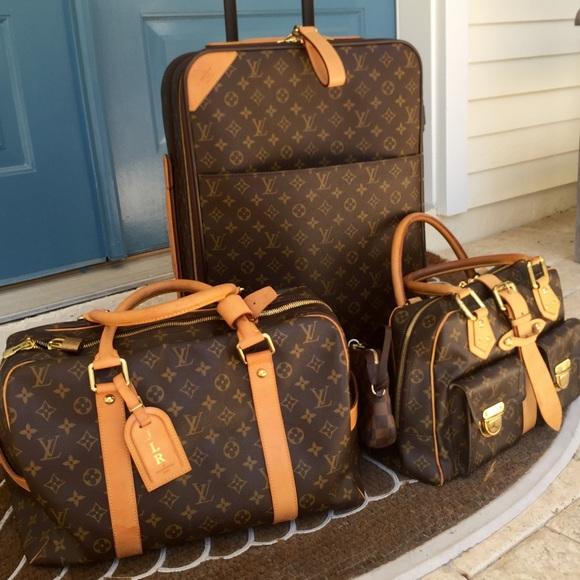 Louis Vuitton Handbags Manhattan Luggage