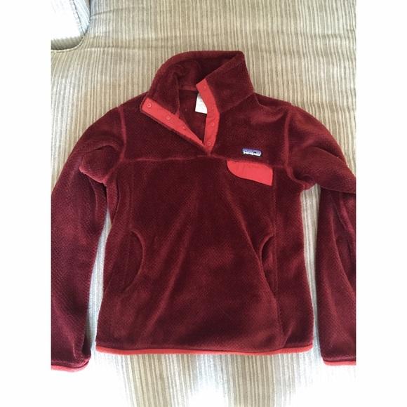 Maroon Fleece Jacket v8uqSN