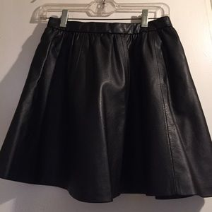 Black fake leather skirt