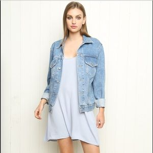 Brandy Melville Boyfriend Oversize Denim Jacket